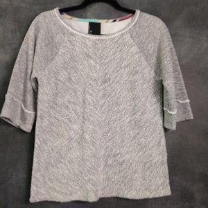 DOLAN | Anthropologie Textured Sweatshirt Sz Small